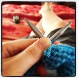 Me knitting